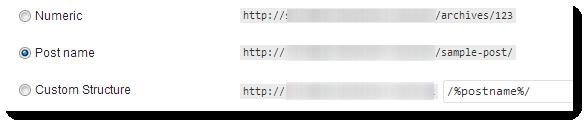 permalink setting for wordpress