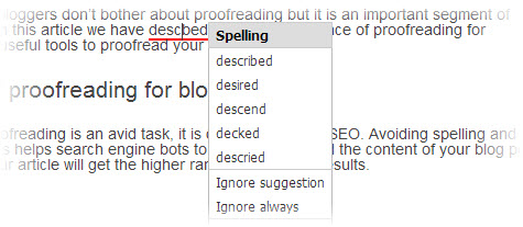 Google proofreading