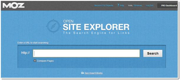 Open Site Explorer - Công cụ check backlink của MOZ