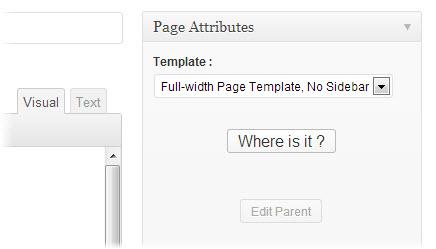 wordpress page attribute