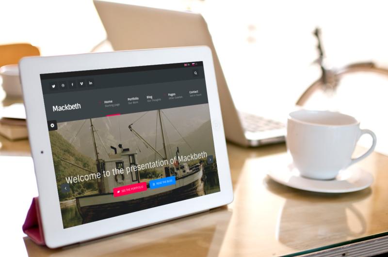 wordpress theme preview on tablet