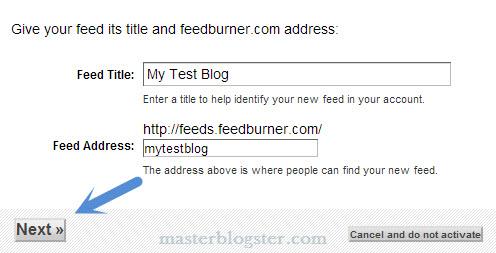 configure feedburner for wordpress