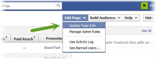 get Facebook fan page ID