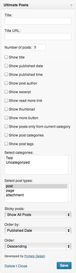ultimate posts widget