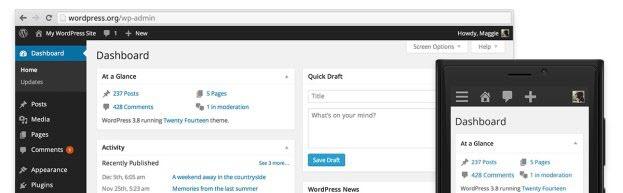responsive wordpress admin panel