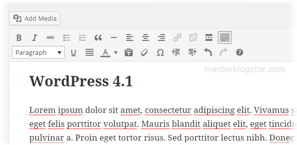 improved wordpress edior