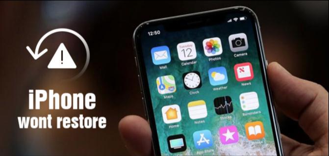 iphone not restoring solution